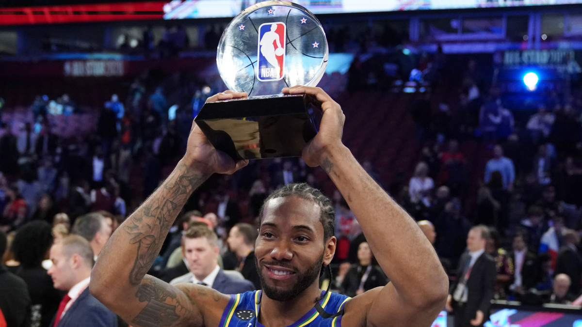 Kawhi Leonard was awarded the first-ever Kobe Bryant All-Star MVP Award.