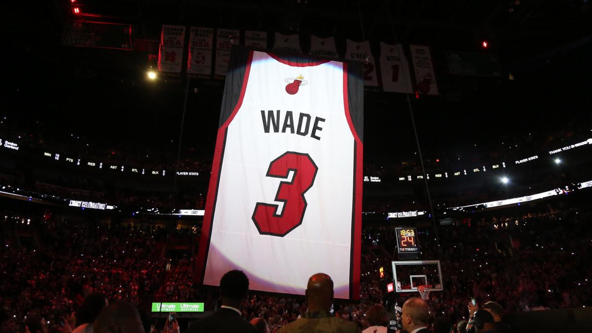 Dwyane Wade's Jersey Retired by Heat