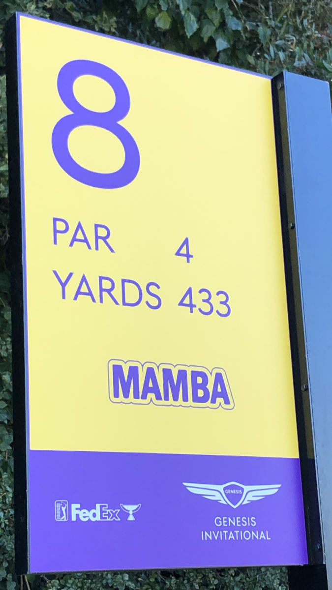 The PGA Tour paid tribute to the late Kobe Bryant on the 8th hole