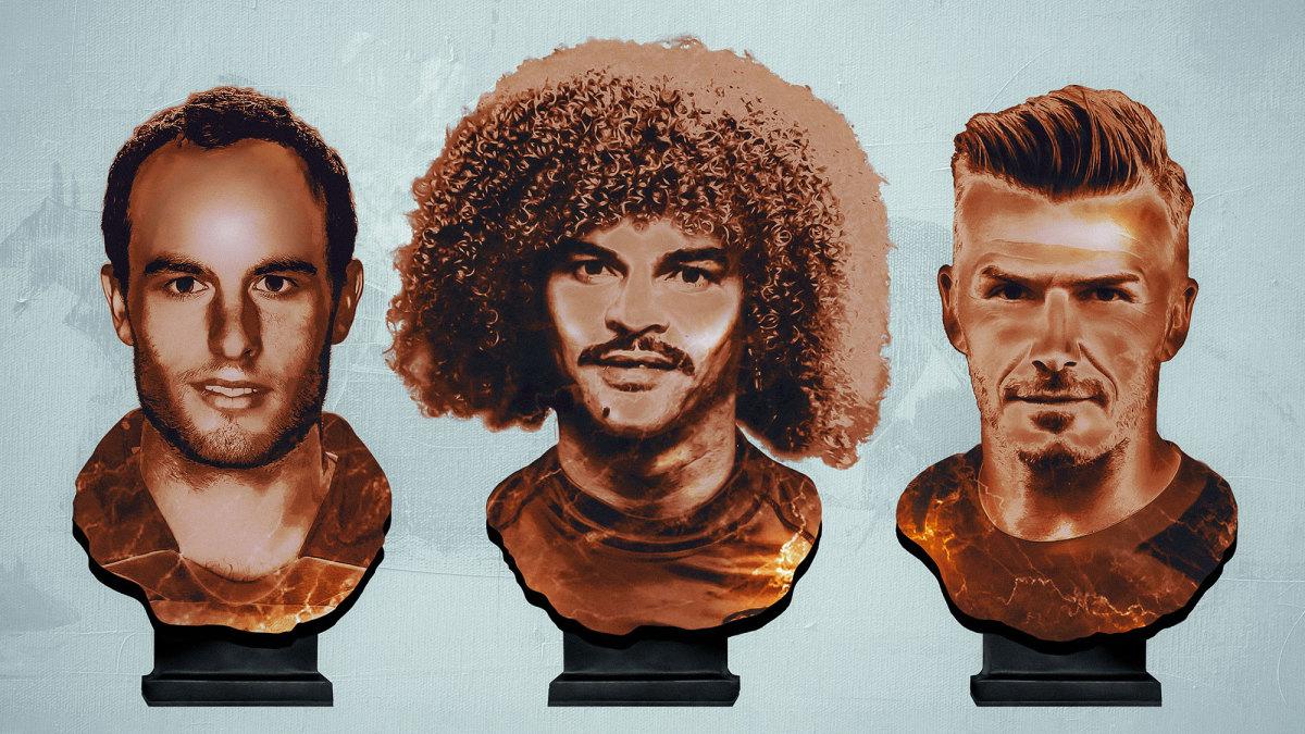 MLS greats Landon Donovan, Carlos Valderrama and David Beckham