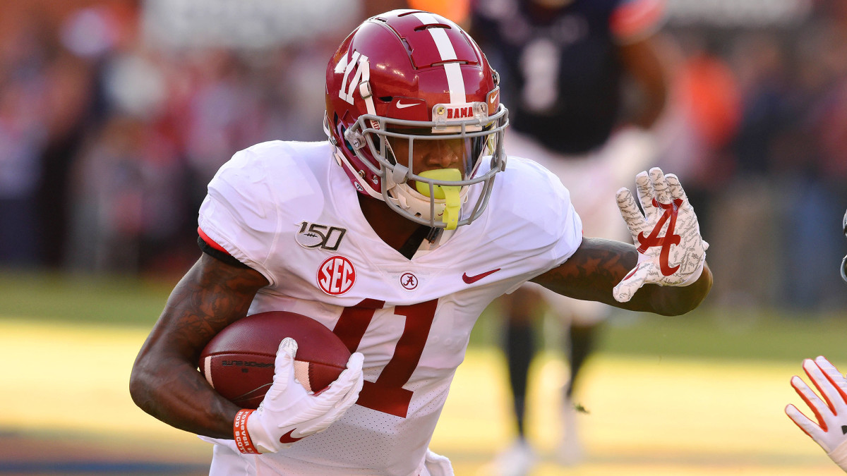 Ruggs, who ran a blazing 4.27 in Indy, averaged 18.6 yards on his 40 catches last season for the Tide.
