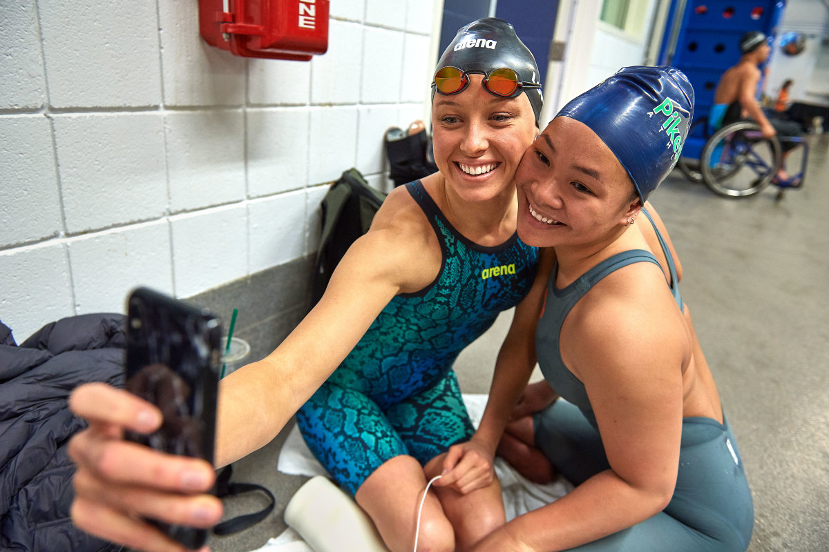Many Team USA swimmers, like 16-year-old Haven Shepherd, look up to and support Long; others argue her crusade has been damaging. (Donald Miralle)