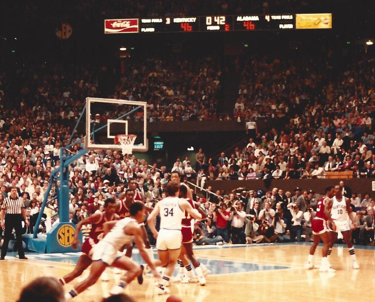Alabama defeated Kentucky at Rupp Arena in the 1982 SEC Tournament title game