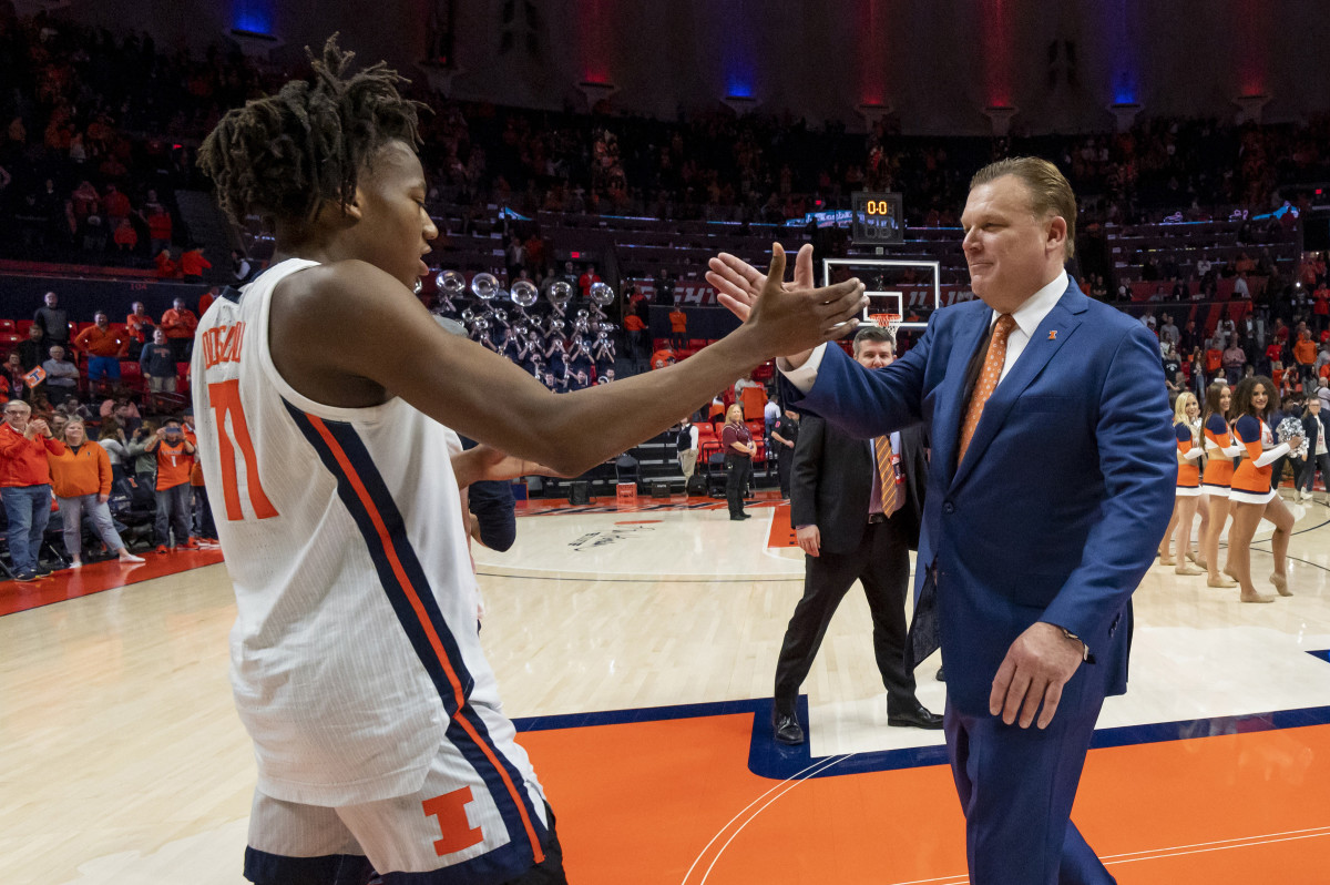 Illinois head coach Brad Underwood knew after the 78-76 win over Iowa on March 8 that he'd likely coached Ayo Dosunmu for the last time in State Farm Center.