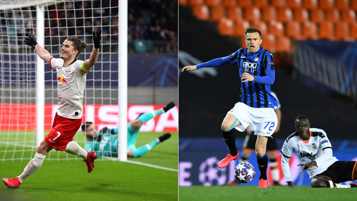 RB Leipzig and Atalanta are moving on to the Champions League quarterfinals