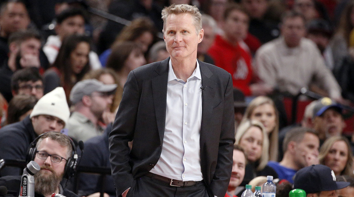 Kerr's Warriors anticipated playing before an empty crowd at home, until the NBA suspended the season.