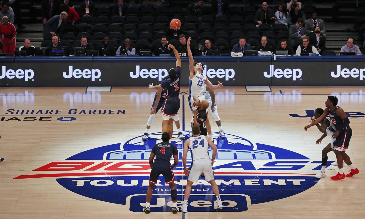 Tip off for St. John's vs. Creighton Bluejays Big East tournament game at Madison Square Garden.