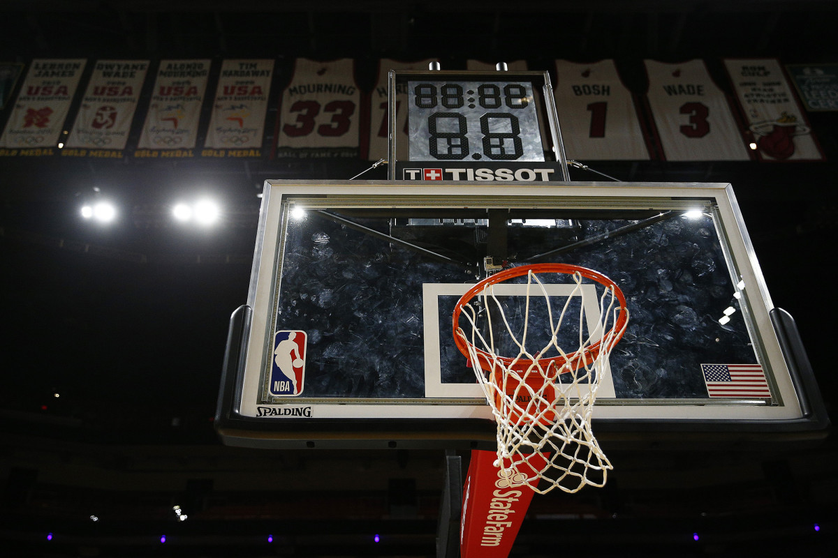 American Airlines Arena after the NBA suspends the season due to coronavirus concerns.