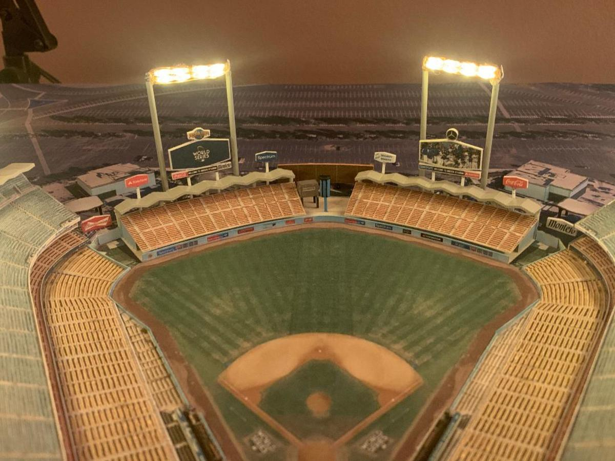 Model of Dodger Stadium, by David Resnick, of Stadiums for Ants.