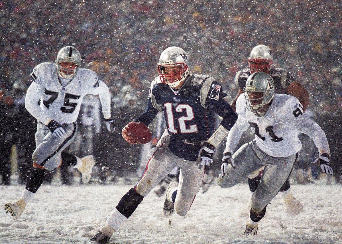 Tom Brady in the Tuck Rule game