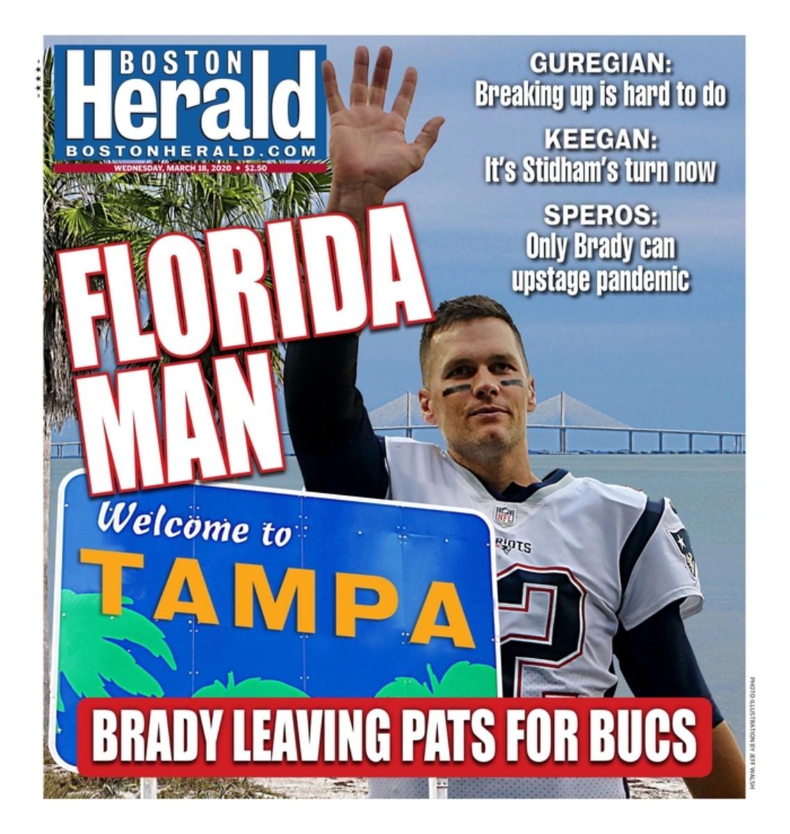 Boston Herald Tom Brady front page