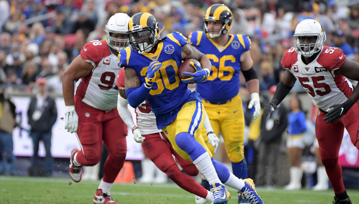 Gurley, who played just 73 games for the Rams, leaves as the franchise's sixth-leading rusher.
