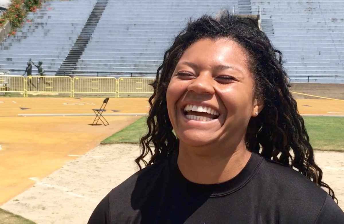 Camryn Rogers' mother says her good attitude is a huge benefit to her.