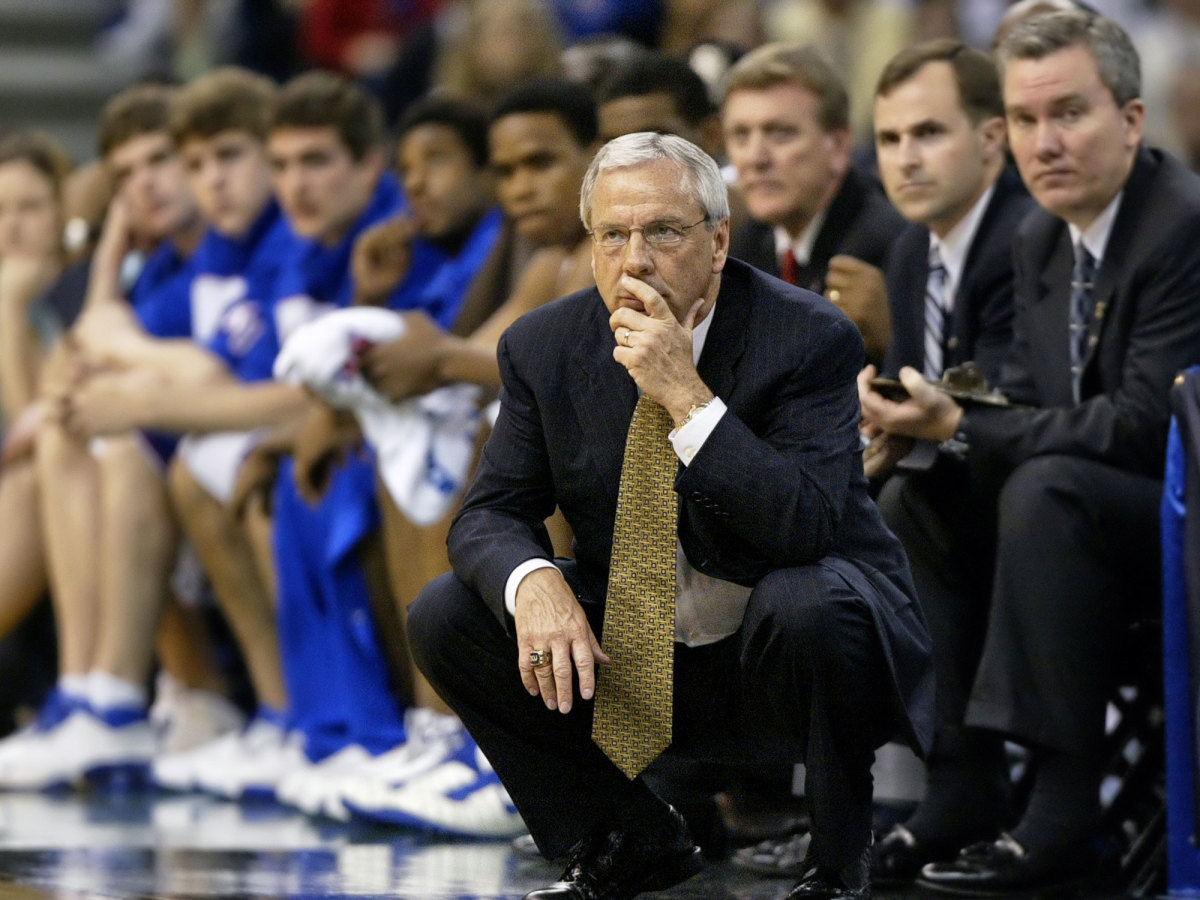 Kansas basketball coach Roy Williams