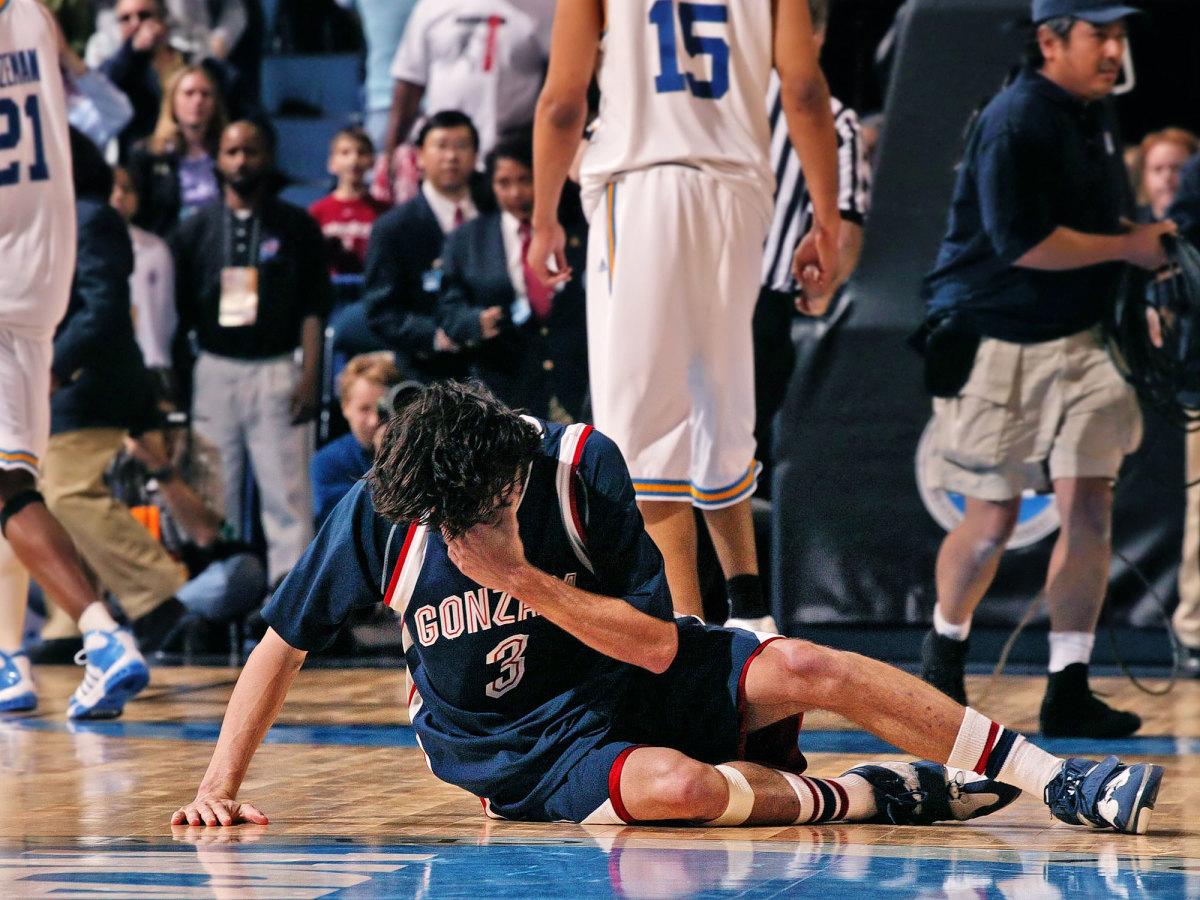 Adam Morrison crying Gonzaga UCLA NCAA tournament
