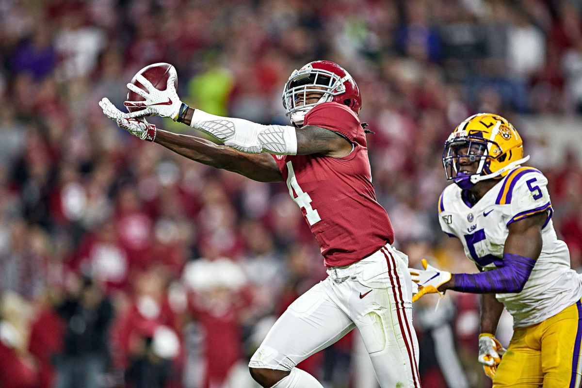 In 16 games against SEC opponents the past two seasons, Jeudy had 85 catches for 1,350 yards.