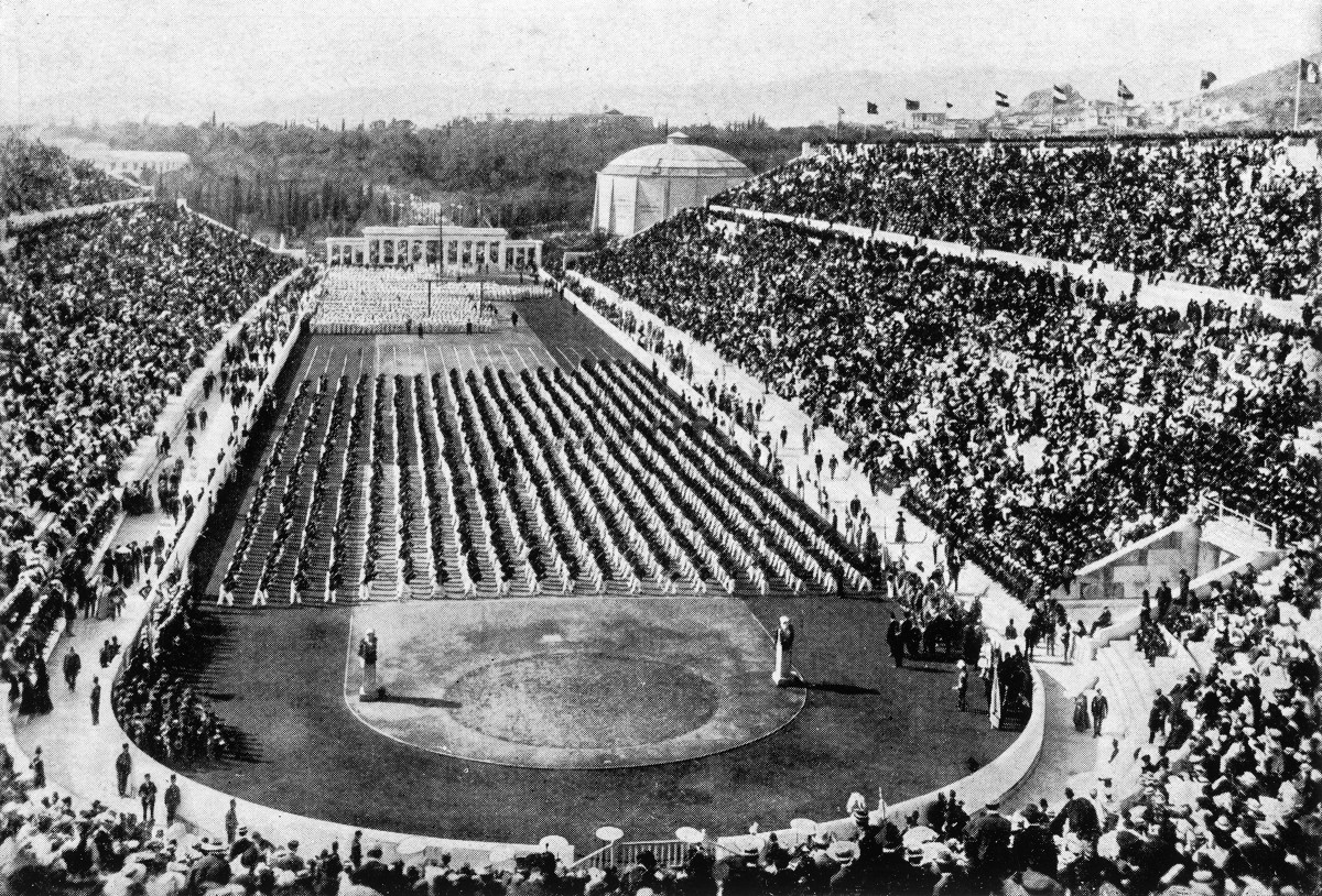 The opening ceremony in Athens, 1896.