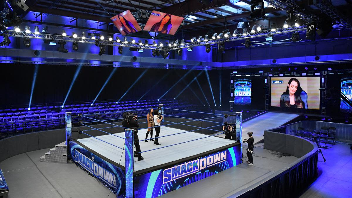 WWE began pre-taping shows in mid-March at its Performance Center in Orlando.