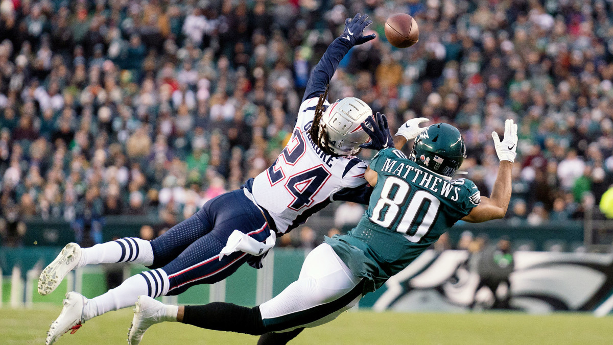 Gilmore picked off six passes and broke up 20 more—both tops in the NFL.
