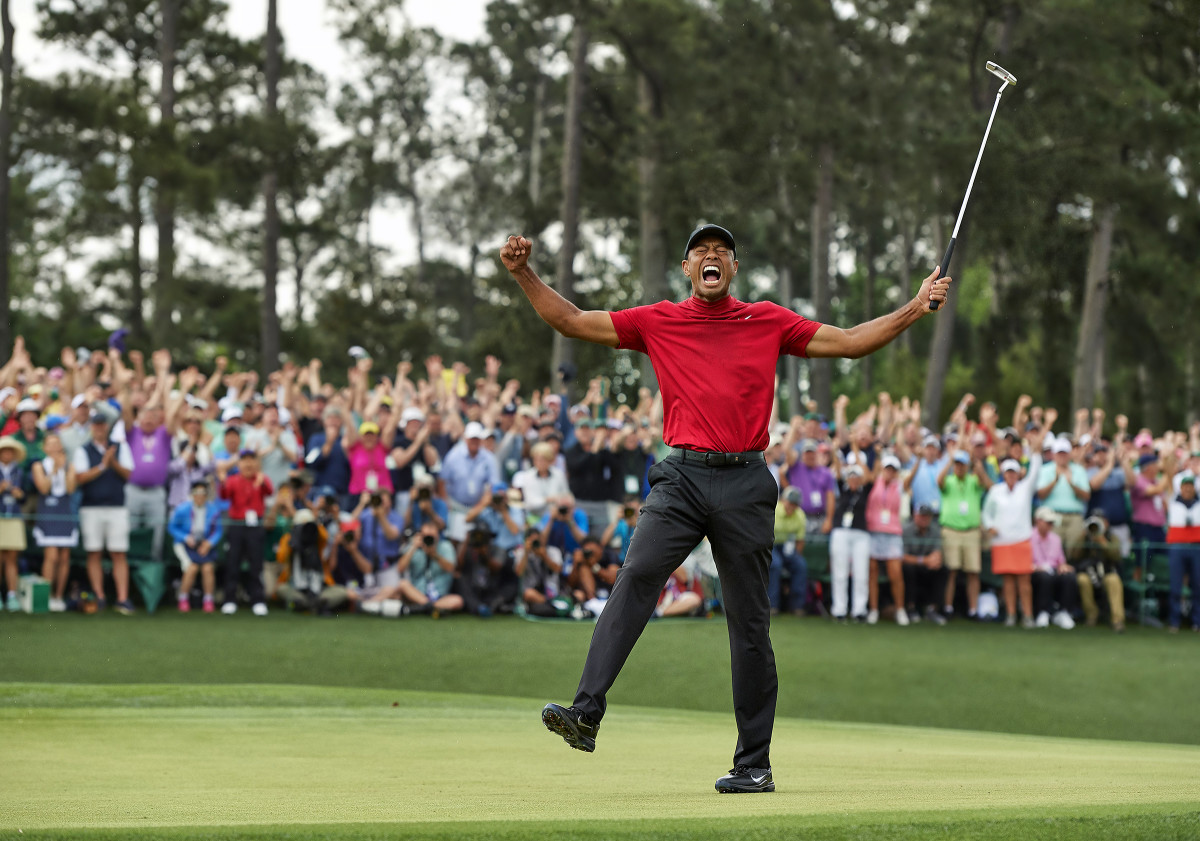 Woods sinks his Masters-winning putt on April 14, one day before Daniel Hall would die.