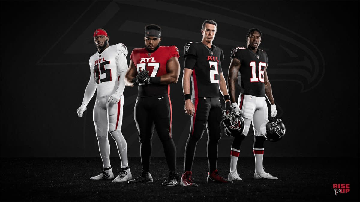 The Falcons unveiled their new uniforms for the 2020 season.
