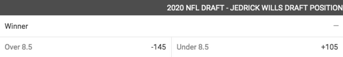 2020 NFL Draft Position Jedrick Wills