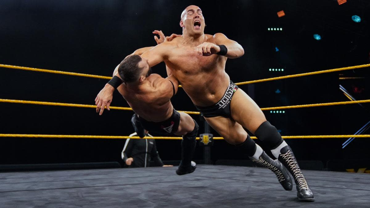 Fabian Aichner dropped a lariat on Finn Balor live on WWE's 'NXT' on Wednesday night.