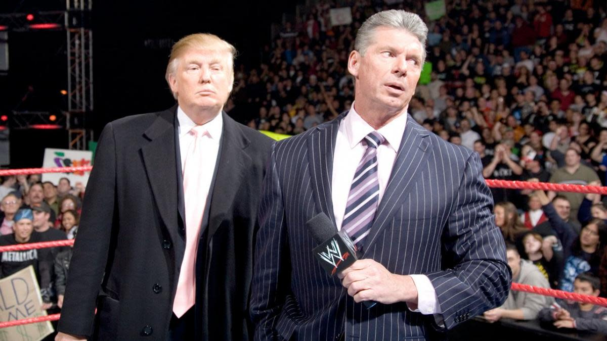 The McMahons have been close with Trump for years. In 2007, Trump appeared with Vince at WrestleMania and, as president, he tabbed Linda to join his cabinet.