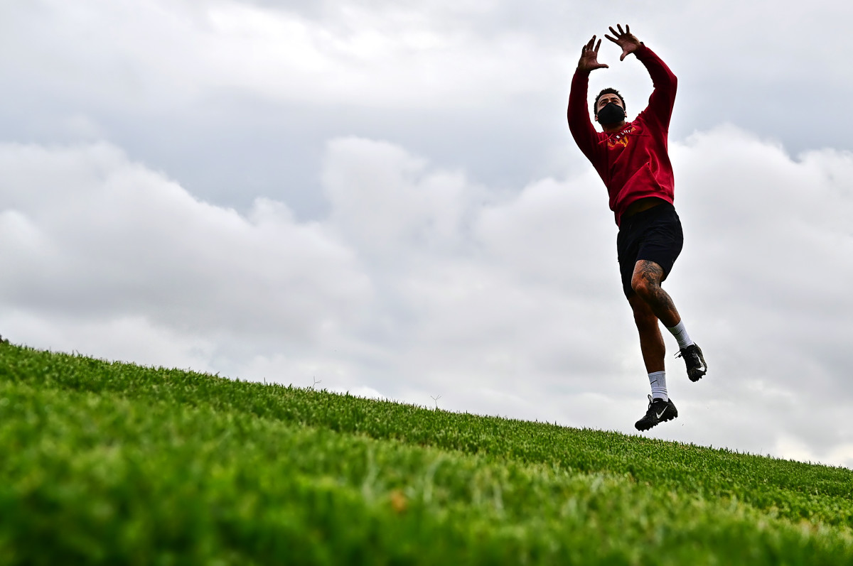 No footballs. No quarterbacks. This is the 2020 NFL draft lead-up.