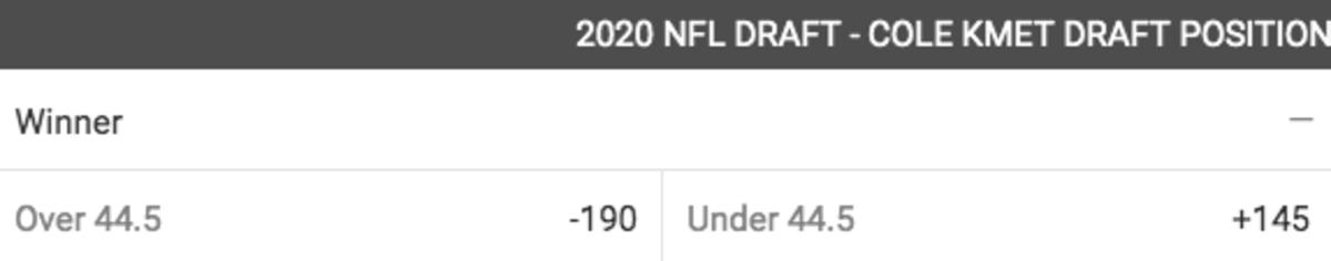 O_U Bodog Cole Kmet NFL 2020 Draft