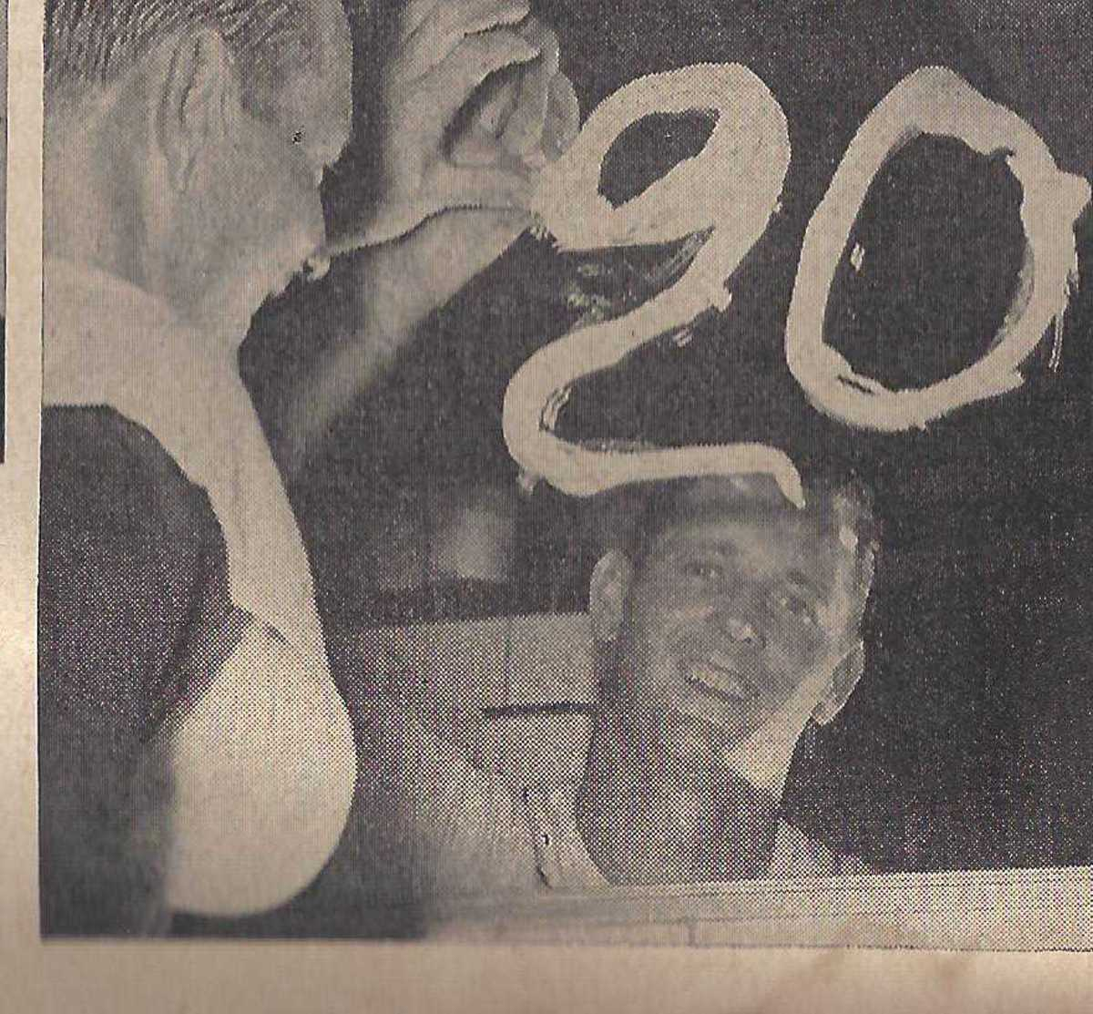 Frank Lary after his 20th win with the Detroit Tigers.