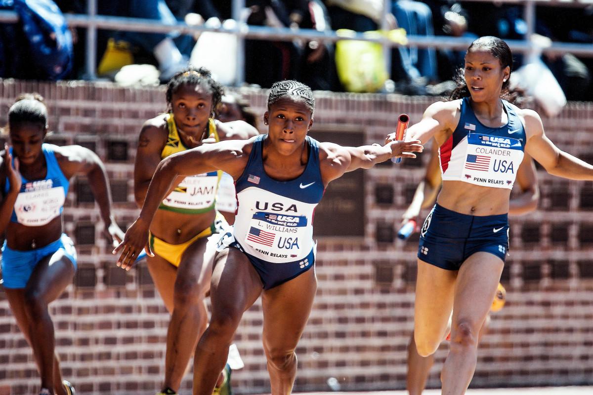 The women's 4x400 relay, in 2006.