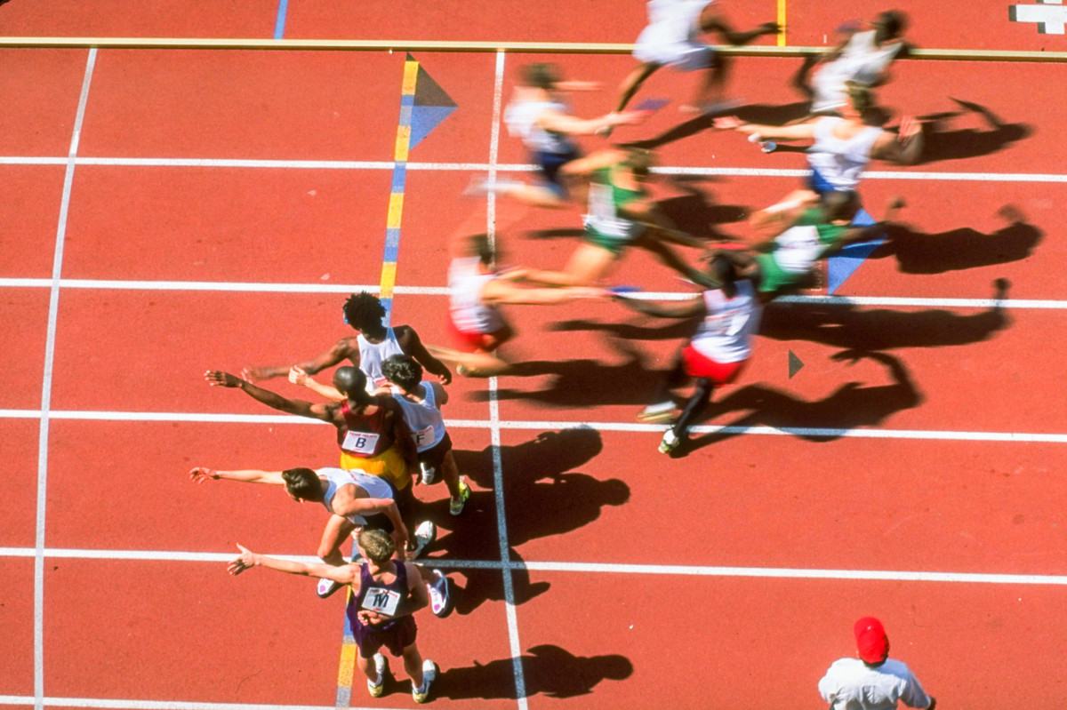 The 4x400, in 1993.