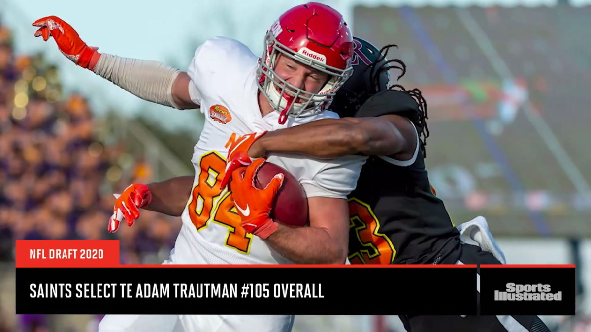 New Orleans Saints select Tight End Adam Trautman