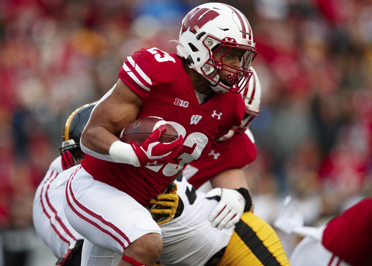 Wisconsin running back Jonathan Taylor, drafted Friday in the second round by the Indianapolis Colts, is considered one of the NFL's most promising rookie players.