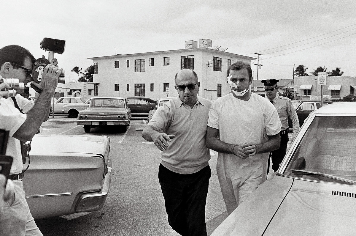 Murphy, apprehended (and injured) trying to rob a Miami Beach socialite in 1968.
