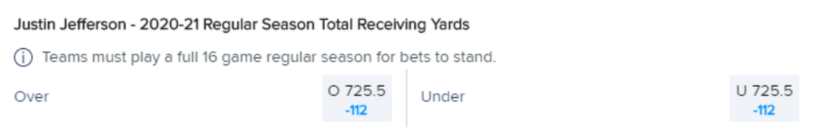 Odds courtesy of FanDuel Sportsbook