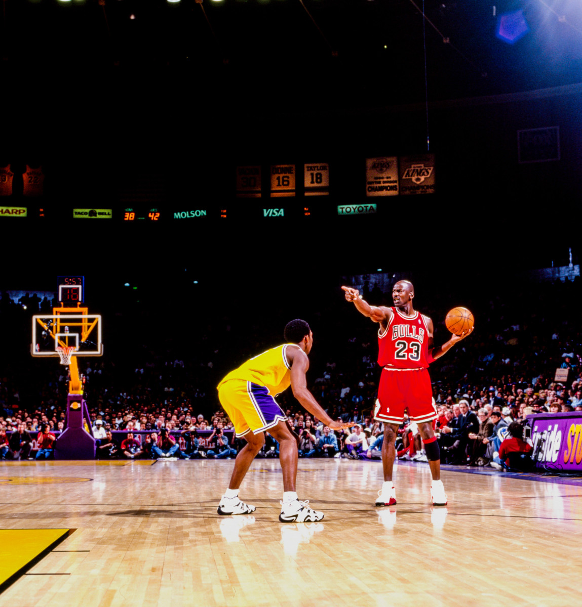 """Kobe, on Jordan's influence:""""I don't get five championships without him."""""""