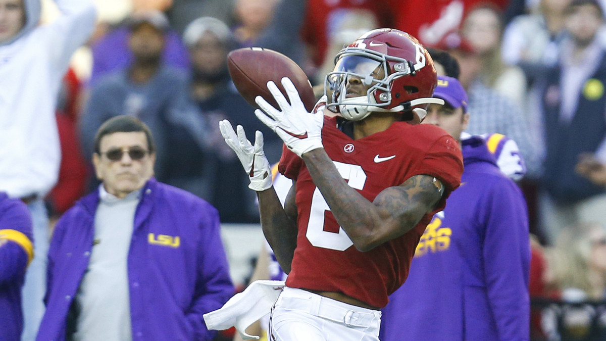 Smith had more receiving yards (1,256) than either of the Tide's two first-round receivers.