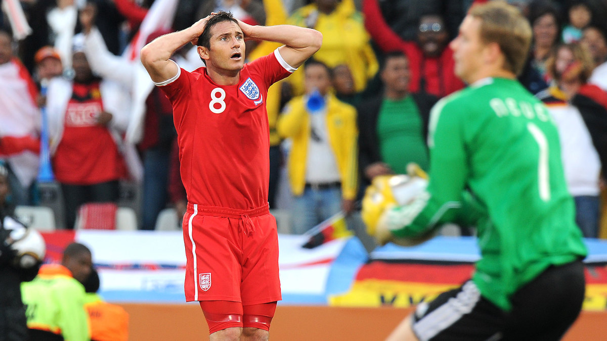 Frank Lampard thought he'd scored vs. Germany in the 2010 World Cup
