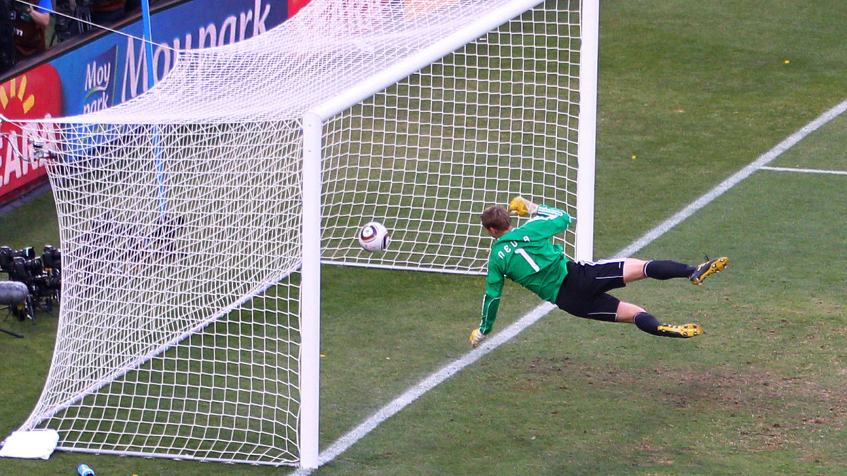 Frank Lampard's would-be goal vs. Germany was ruled out in the 2010 World Cup