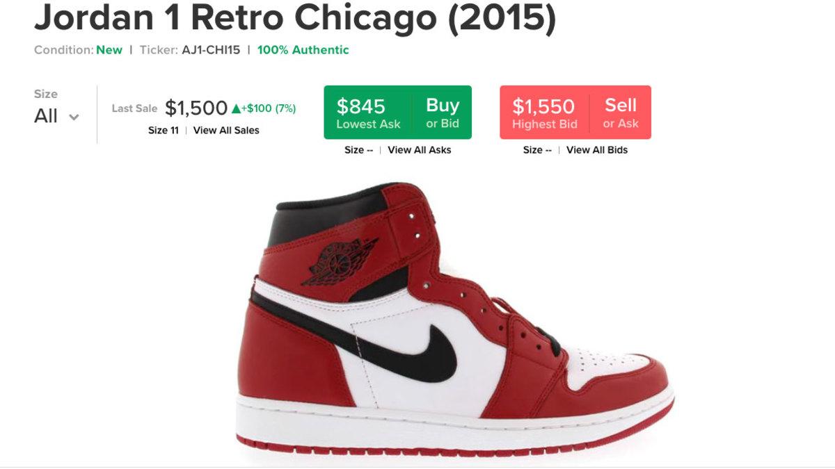 Air Jordan 1 price increase