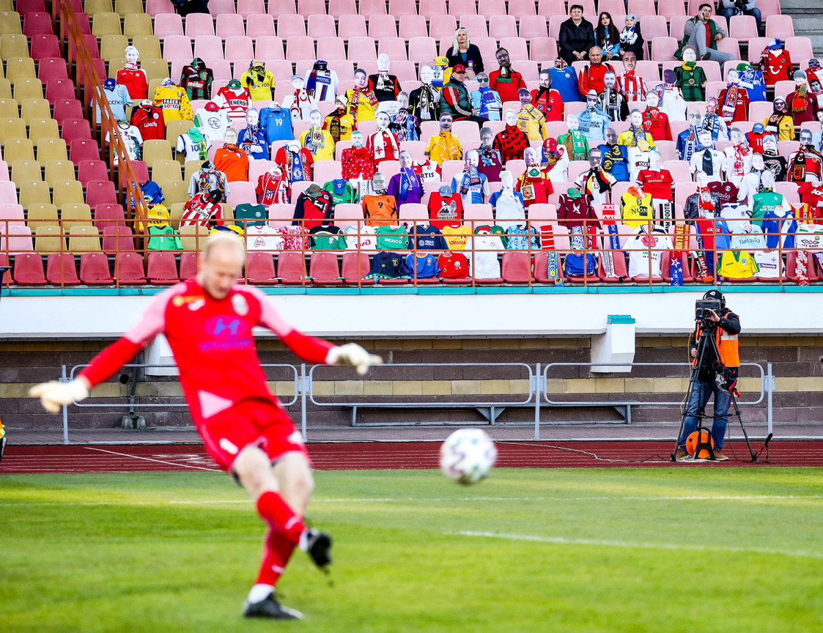 Belarusian soccer is one of the few professional sports still going.