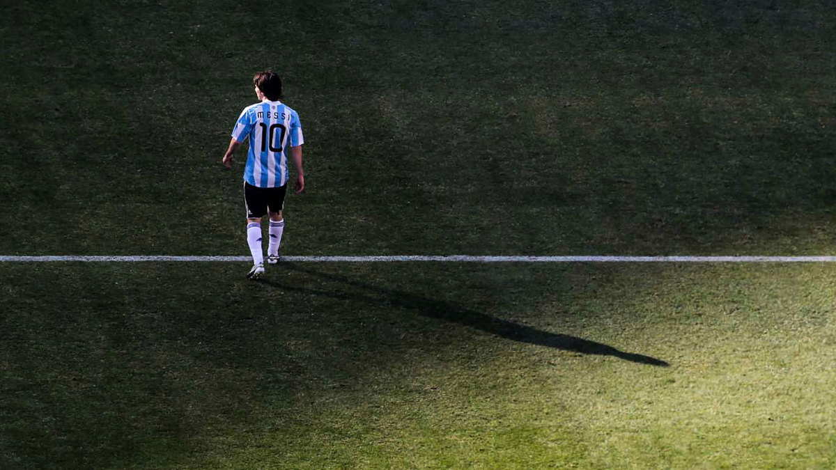 Lionel Messi at the 2010 World Cup