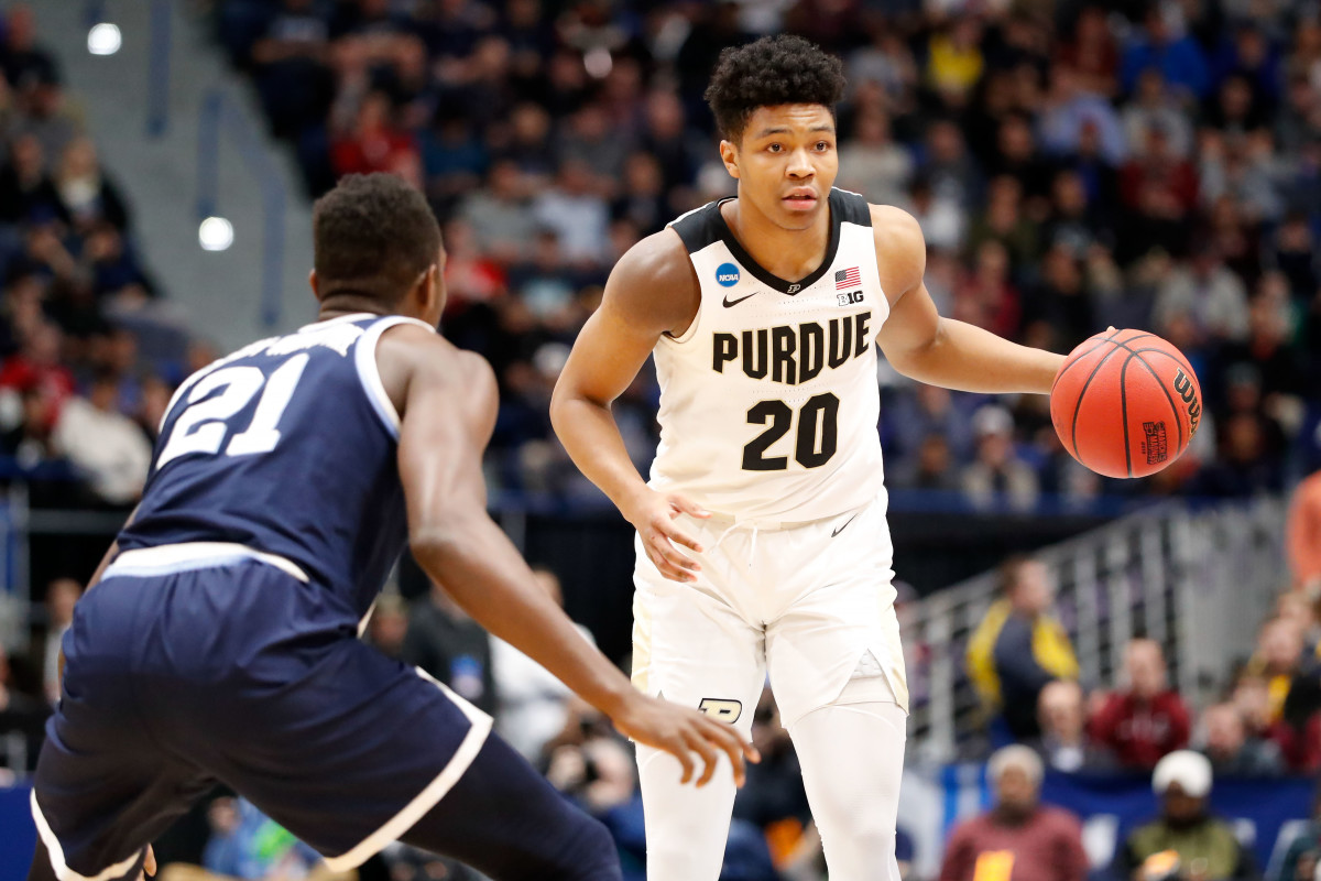 Purdue junior Nojel Eastern (20) entered the NCAA transfer portal on Tuesday after playing three seasons at Purdue. (USA TODAY Sports.)