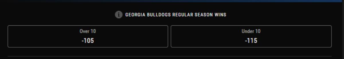 Odds courtesy of PointsBet