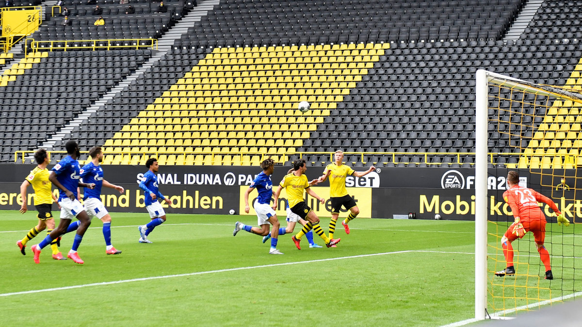 Dortmund faces Schalke in the Bundesliga's return to action