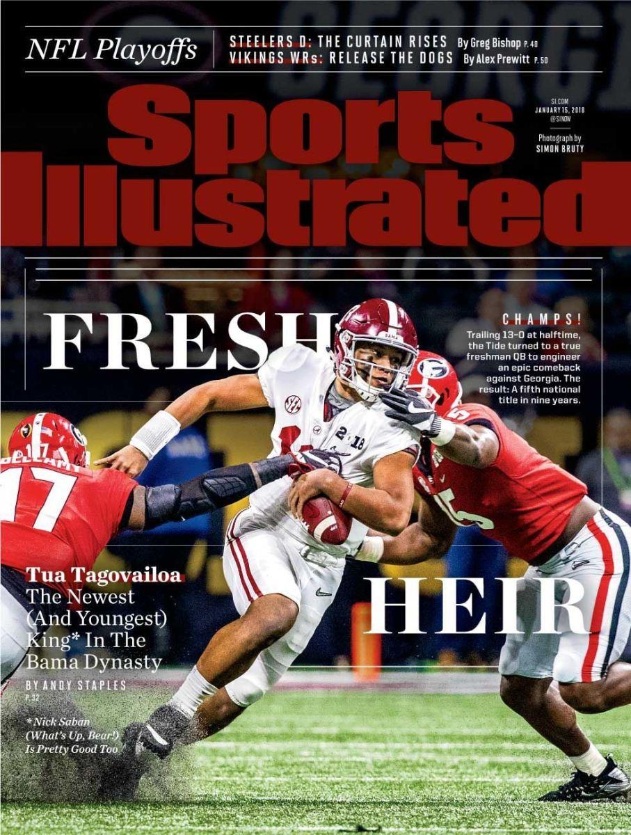 Sports Illustrated cover Tua Tagovailoa, Jan. 15, 2018, Fresh Heir