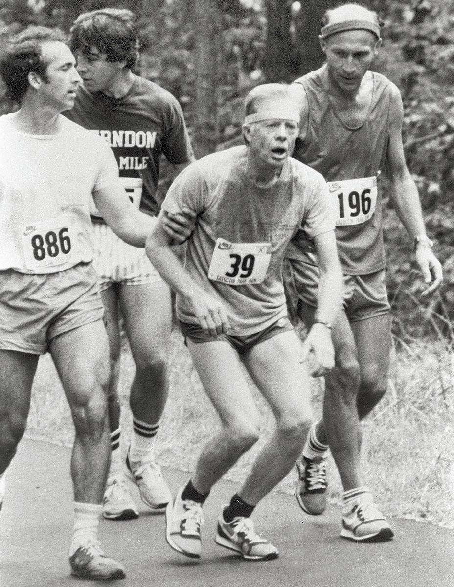Carter's collapse during a 10K led one expert to posit that running was worse than heroin.undefined