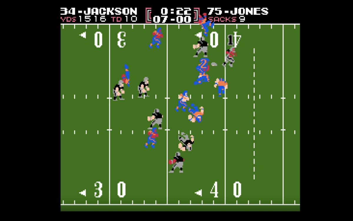 Bo Jackson of Tecmo Bowl, not to be confused with the immortal Bo Jackson of SUPER Tecmo Bowl.